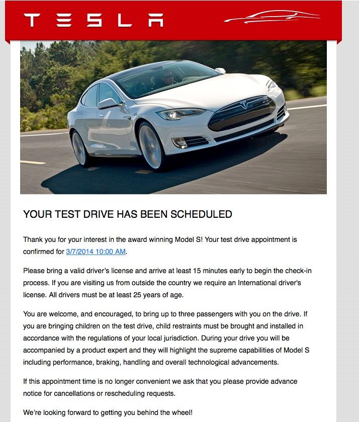 Test Drive Scheduled!