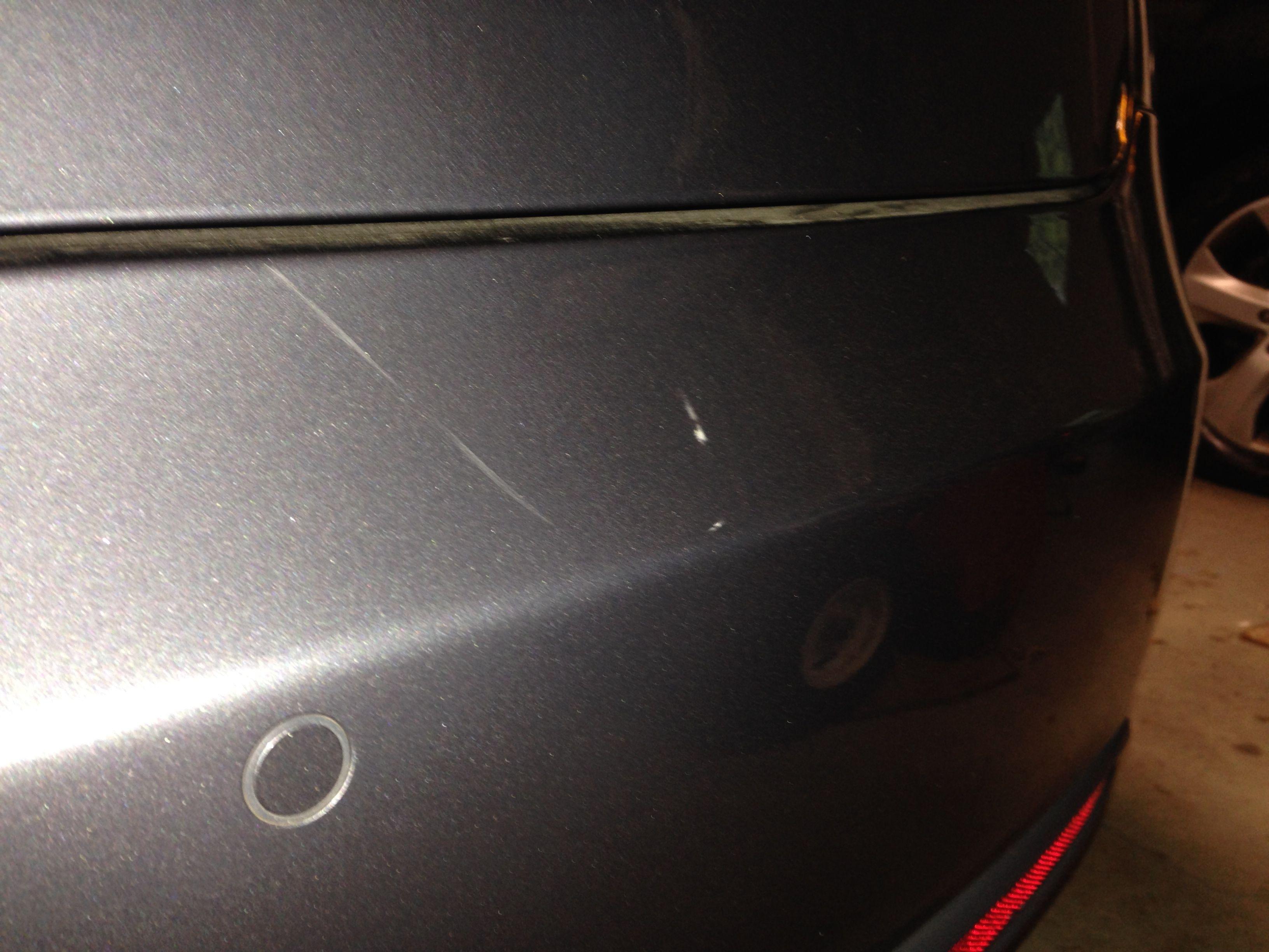 Rear bumper Scrape