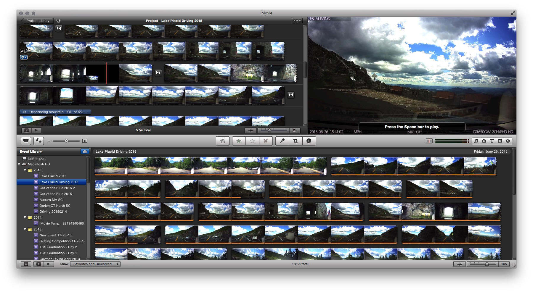 Editing dashcam movies
