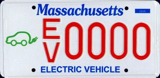 MA EV Plate